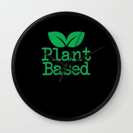 Plant Based Vegan Vegetarian Wall Clock
