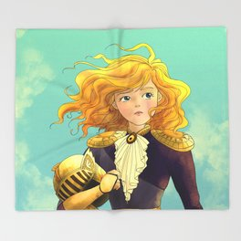 Tammy Wurtherington Freedom Fighter: Aqua Throw Blanket