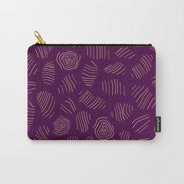 Purple Tree Rings Carry-All Pouch