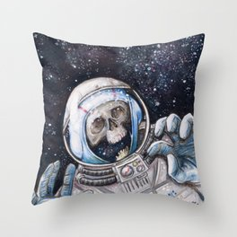 Space Madness Throw Pillow