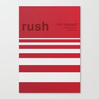 rush Canvas Prints featuring Rush by Darrenhealey