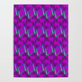 Shears Pattern Poster