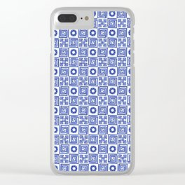 Lines and Shapes - Dutch Blue Clear iPhone Case