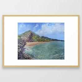 Big Beach Framed Art Print