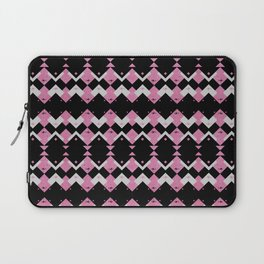 Pink Flamingos Art Deco Pattern Laptop Sleeve