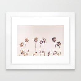 Sunny Cali Palm Trees Framed Art Print