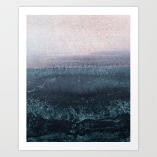 minimalist atmospheric landscape 1 Art Print