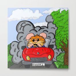 Hammy Goes For A Drive Metal Print