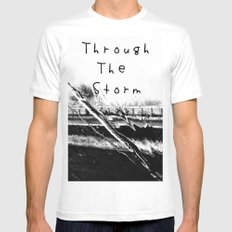 Though the storm MEDIUM Mens Fitted Tee White