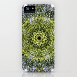 Light Shining Through a Tree Fractal iPhone Case