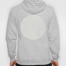 White Moroccan Tiles Pattern Hoody