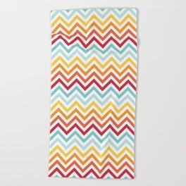 Rainbow Chevron #2 Beach Towel
