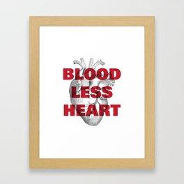 Bloodless Heart Framed Art Print