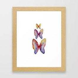 Romantic feeling Butterflies Collection Framed Art Print