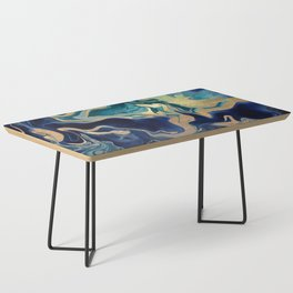 DRAMAQUEEN - GOLD INDIGO MARBLE Coffee Table