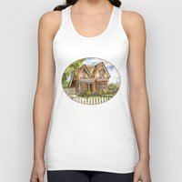 victorian Tank Tops featuring Victorian Beauty by Shelley Ylst Art