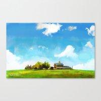 farm Canvas Prints featuring Farm by Wenlolz.