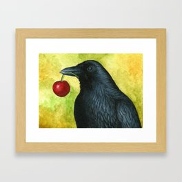 Bird 55 Crow Raven Framed Art Print