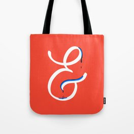 Dripping letter & Tote Bag