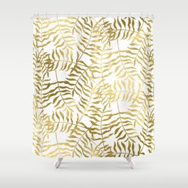 Gold Leaves 2 Shower Curtain