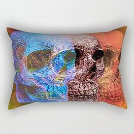 Psychodelic Pop art skulls Rectangular Pillow