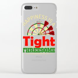Darts Tight Threesome Bullseye product Clear iPhone Case