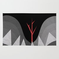 scary Area & Throw Rugs featuring Scary Night by Creative Brainiacs