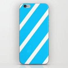Blue & White Stripes iPhone & iPod Skin