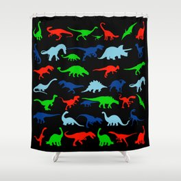 silhouettes of dinosaur pattern Shower Curtain