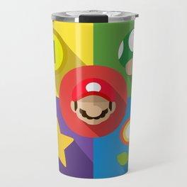 Super Mario flat Travel Mug