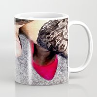 heels Mugs featuring Red Heels by TARA SCHLAYER
