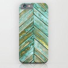 Vintage Blue Wood iPhone 6 Slim Case