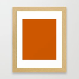 Tenné (tawny) - solid color Framed Art Print