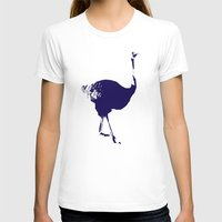 ostrich T-shirts featuring Ostrich by Auberginette