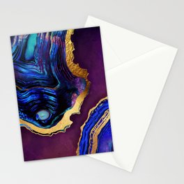 Agate Abstract Stationery Cards