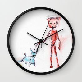 Red Finally Experiences Life in the Fast Lane Wall Clock