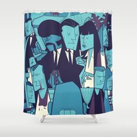pulp fiction Shower Curtains featuring PULP FICTION variant by Ale Giorgini