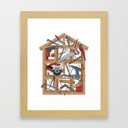 Home Construction Framed Art Print