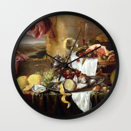 Laurens Craen Still Life with Imaginary View Wall Clock
