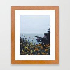 Floral Coast at Dusk Framed Art Print