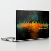 kansas city Laptop & iPad Skins featuring Kansas City Skyline UHq v4 by HQPhoto