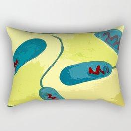 E. coli bacteria inspired illustration Rectangular Pillow
