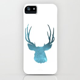 Deer head and stag simple illustration iPhone Case