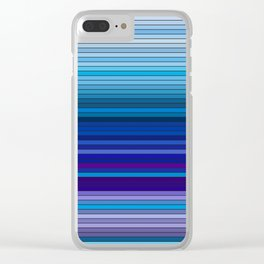 50 Shades of BLUE - Living Hell Clear iPhone Case