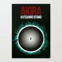 akira Canvas Prints featuring Akira by Guillaume Vasseur