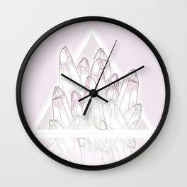 Crystals - Pink Wall Clock