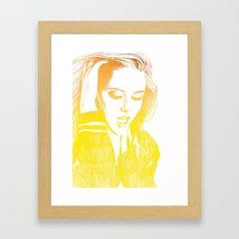 Kristen Stewart in Yellow Framed Art Print