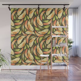Autumnal Leaves Pattern 2 Wall Mural