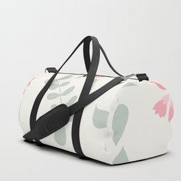 Dahlias and spring flowers in light pastel pink Duffle Bag