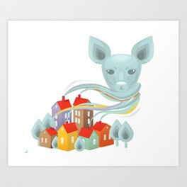 Christmas & New Year Art Print